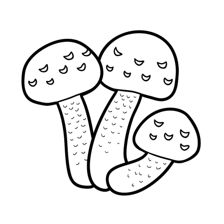 inedible: Coloring book for children. Inedible mushrooms, hypholoma fasciculare