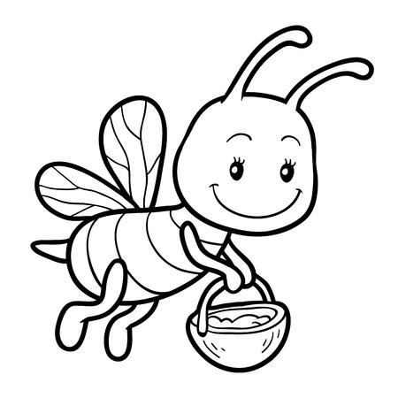 Abeja Bebe Para Colorear Dibujo de Bebé abeja para Colorear ...