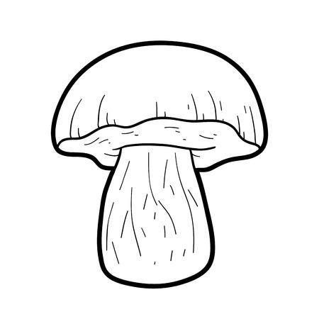 food poison: Coloring book for children. Inedible mushrooms, boletus catanas