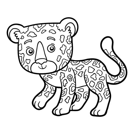 children book: Coloring book for children, Jaguar