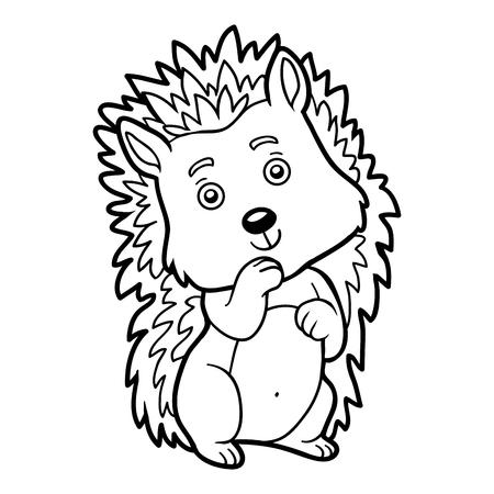 Coloring book for children, Hedgehog