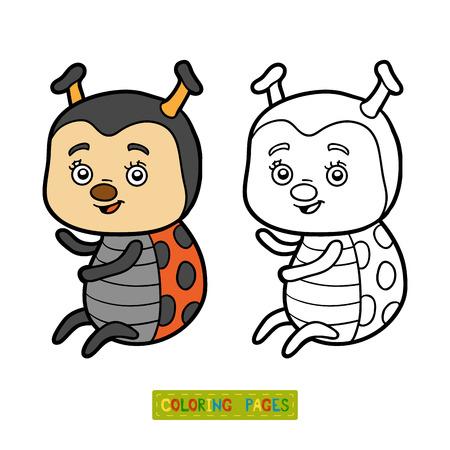 children book: Coloring book for children, Ladybug