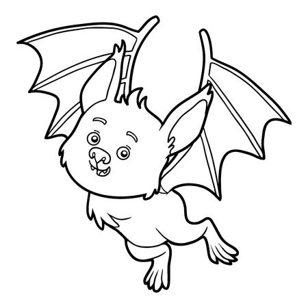 Libro Para Colorear Para Los Niños, Bat Ilustraciones Vectoriales ...