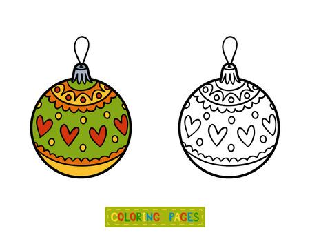 Libro De Colorante Para Los Niños, Juguete árbol De Navidad, Bola ...