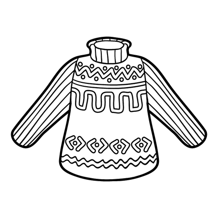 clothing: Coloring book for children, Pullover