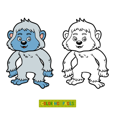 Coloring book for children, Yeti