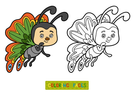 coloration: Coloring book for children, Butterfly Illustration
