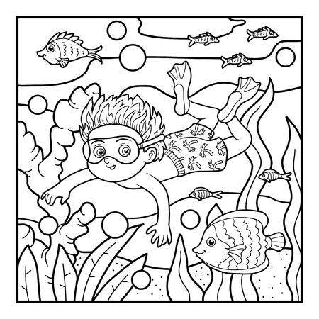 Dibujo Para Colorear Para Niños, Tiburón Ballena Ilustraciones ...