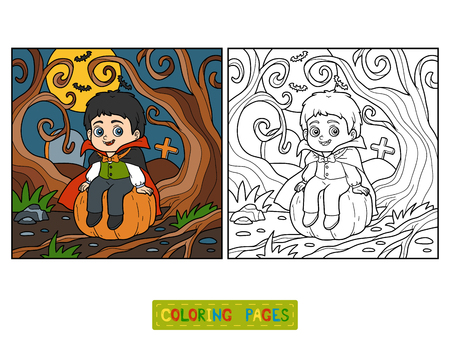 Coloring book for children, Vampire Illustration