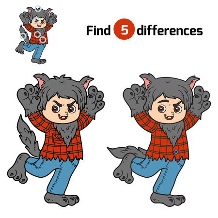 find: Find differences, education game for children, Werewolf
