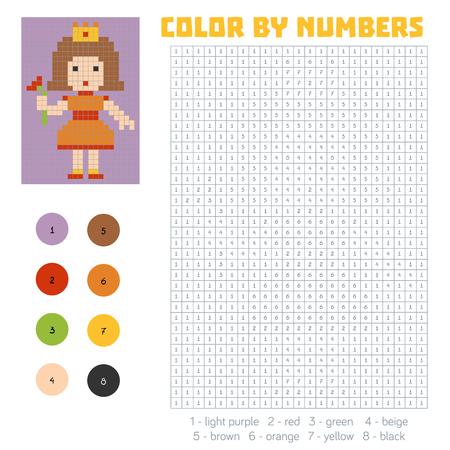 Farbe Nach Anzahl, Ausbildung Spiel Für Kinder, Prinzessin ...
