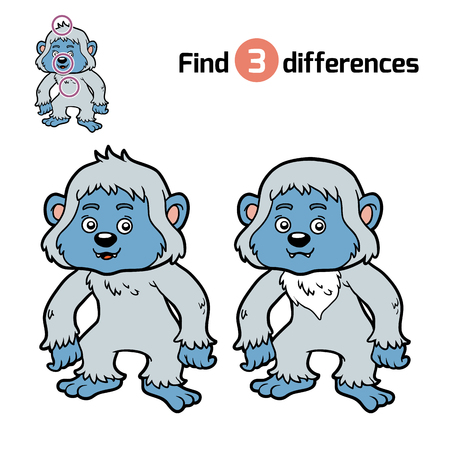 differences: Find differences, education game for children, Yeti