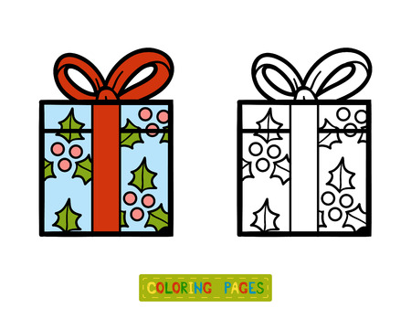 christmas decorations: Coloring book for children, Gift Illustration
