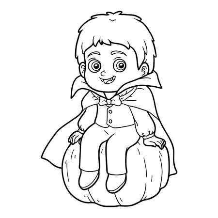 printable coloring pages: Coloring book for children, Vampire Illustration