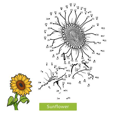 Secret Garden Numbers Game Education Dot To For Children Flower Sunflower