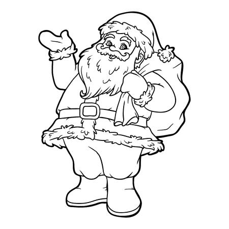 Libro Para Colorear Para Los Niños, Santa Claus Ilustraciones ...