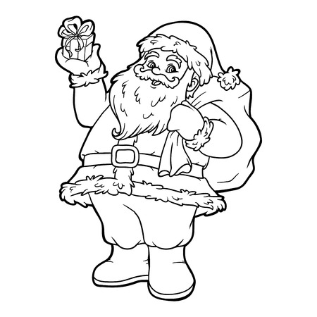 Coloring book for children, Santa Claus
