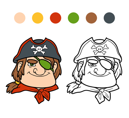 colorless: Coloring book for children, Pirate