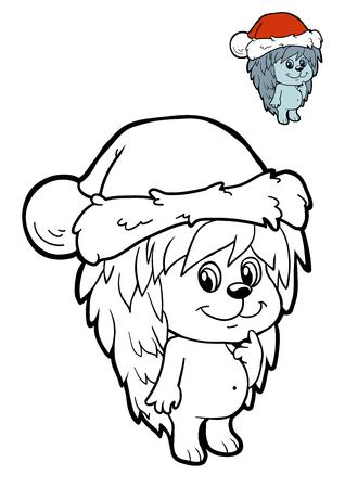 Dibujo Para Colorear Para Niños, Animales De Navidad, Rana Fotos ...
