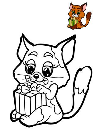 Dibujo Para Colorear Para Niños, Animales De Navidad, Panda Fotos ...