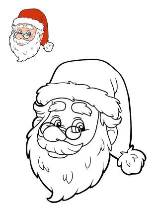 coloration: Coloring book for children, Santa Claus