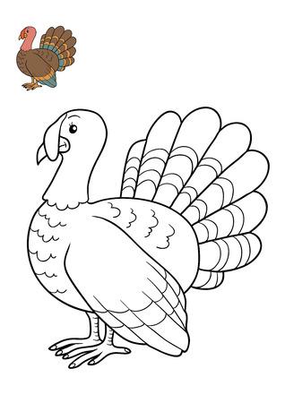 gobbler: Coloring book for children, Turkey
