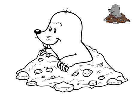 Kleurboek voor kinderen, Mole