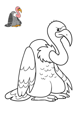 Coloring book for children, Vulture Stock Photo