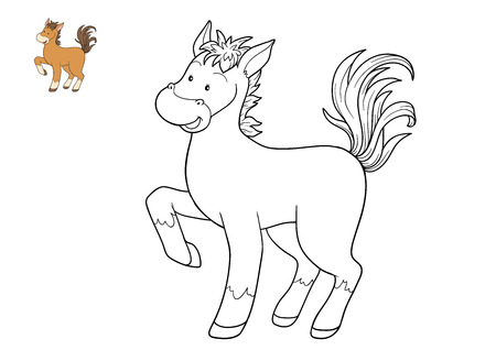 coloration: Coloring book for children, Horse