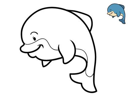 Malbuch Für Kinder, Dolphin Lizenzfreie Fotos, Bilder Und Stock ...