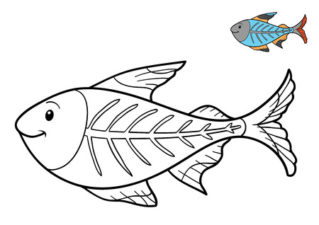 X Ray Fish Coloring Book For Children