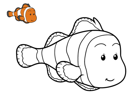 coloration: Coloring book for children, Fish Stock Photo
