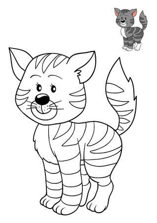 bitmaps: Coloring book for children, Cat Stock Photo