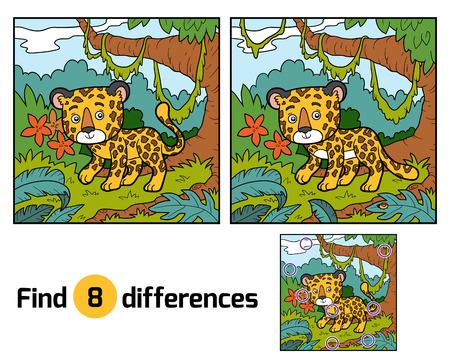 undomestic: Find differences education game for children, Jaguar Illustration