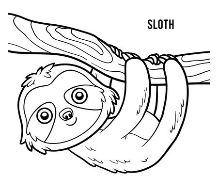 coloration: Coloring book for children, Sloth Illustration