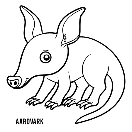 Coloring book for children, Aardvark