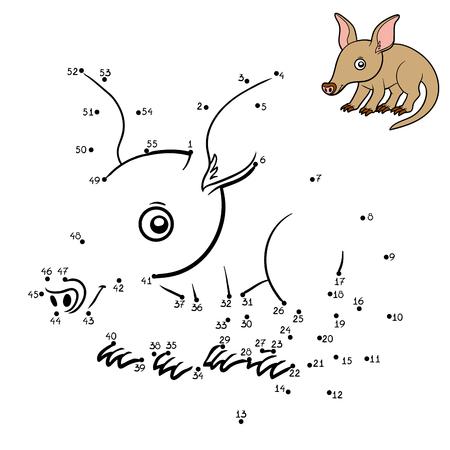 aardvark: Numbers game, education dot to dot game for children, Aardvark