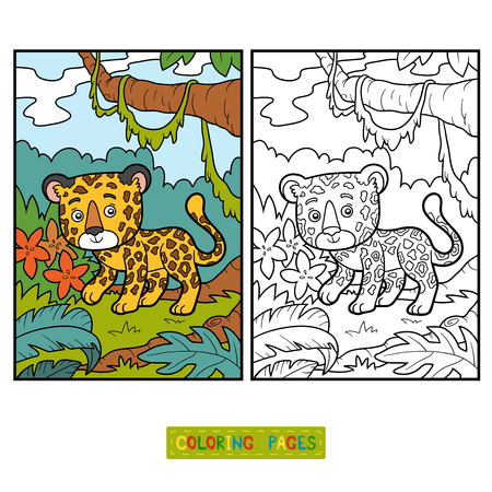 undomestic: Coloring book for children, Jaguar