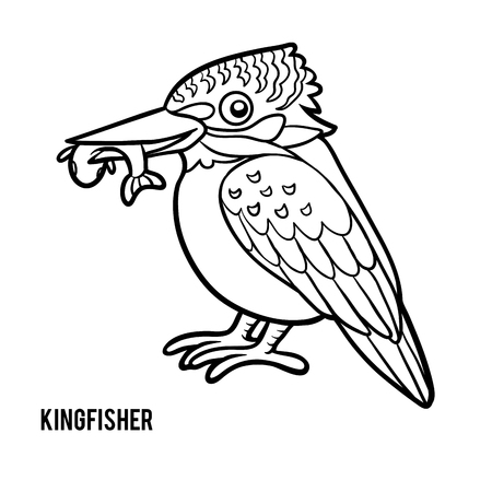 Coloring book for children, Kingfisher