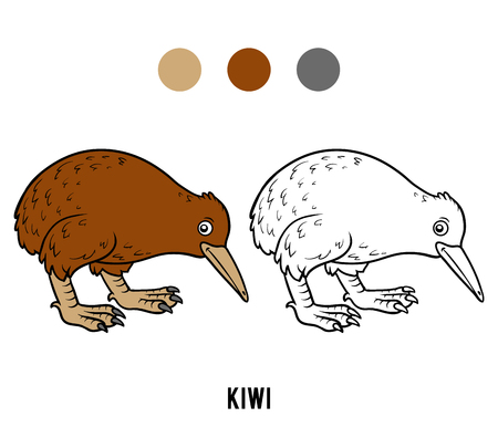 Coloring book for children, Kiwi