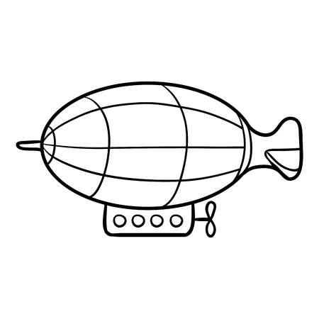 dirigible: Coloring book for children, Airship Illustration