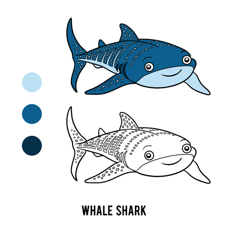 plankton: Coloring book for children, Whale shark
