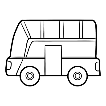 coloration: Coloring book for children, Bus