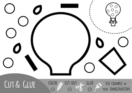 brain teaser: Education paper game for children, Balloon. Use scissors and glue to create the image.