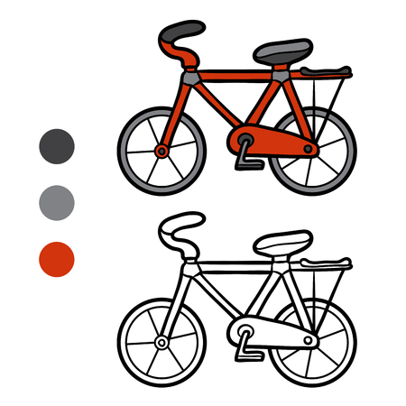 Dibujo Para Colorear Para Niños, Bicicleta Ilustraciones Vectoriales ...