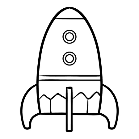 Coloring book for children, Spaceship