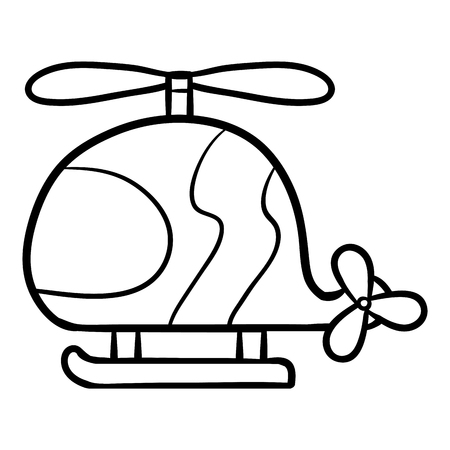 Coloring book for children, Helicopter