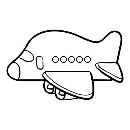 Libro para colorear para niños, Avión
