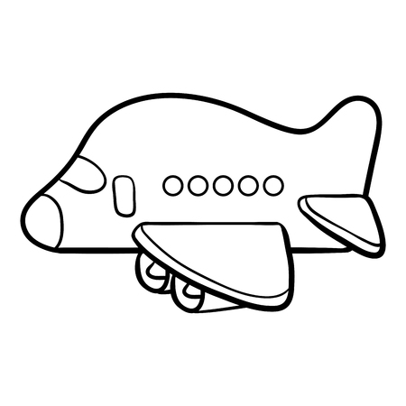 Coloring book for children, Airplane Illustration