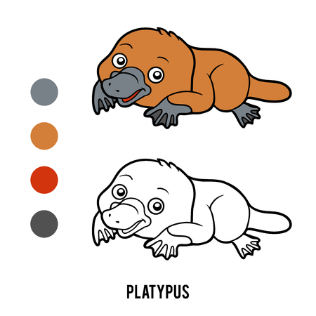 platypus: Coloring book for children, Platypus